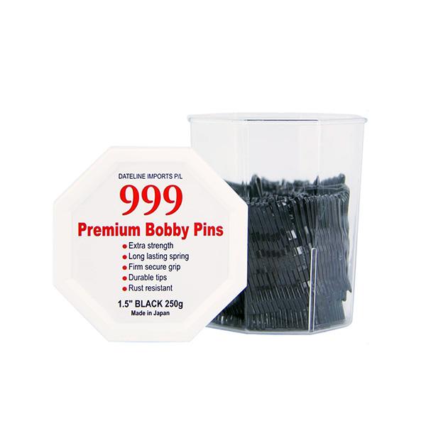 "999 Premium Bobby Pins 1.5"" Black 250g"