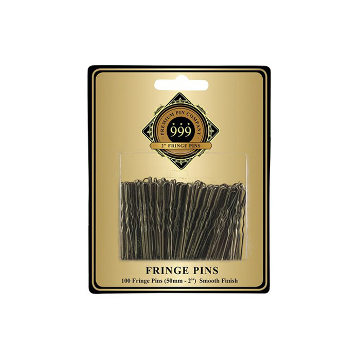 "999 Premium Fringe Pins 2"" 100pc - Bronze"