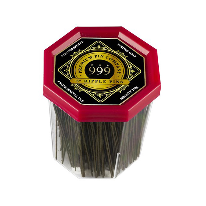 "999 Premium Ripple Pins 3"" Bronze 250g"