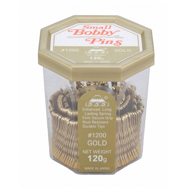 555 Bobby Pins 1.5 inch Gold 120g
