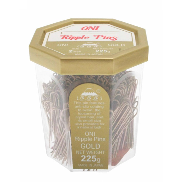 555 Ripple Pins 2 inch Gold 225g