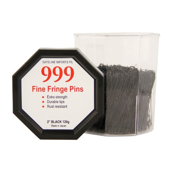 "999 Fringe Pins 2"" Black 120g"