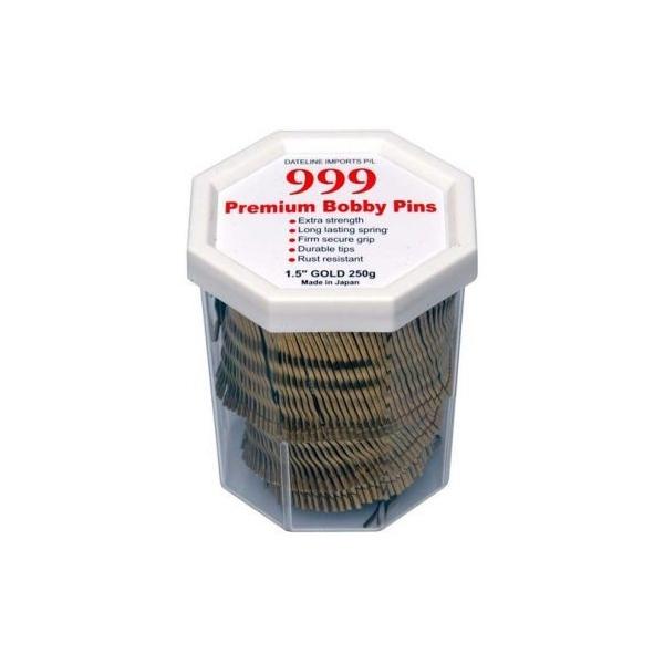 "999 Premium Bobby Pins 1.5"" Gold 250g"