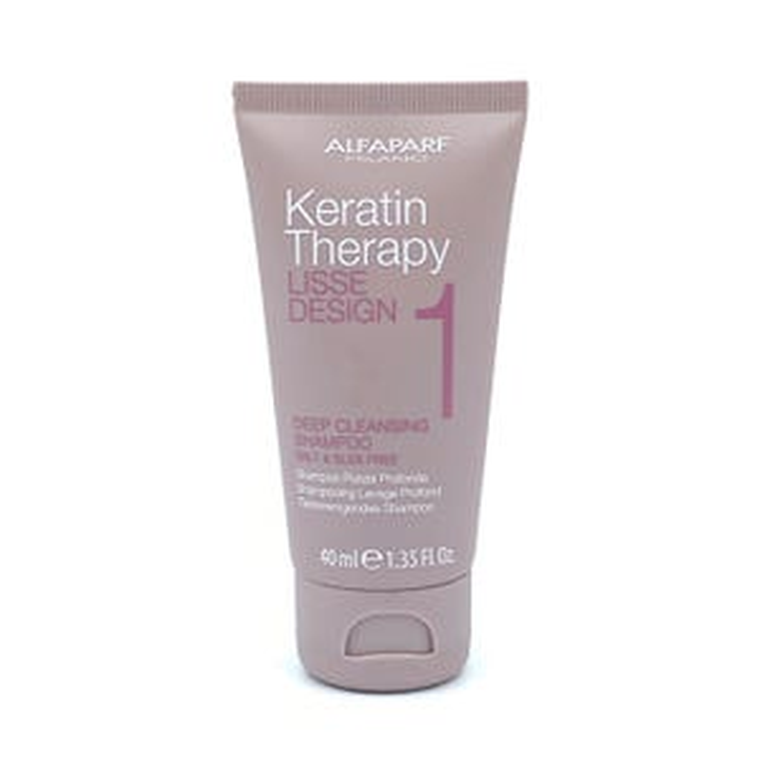 Alfaparf Keratin Therapy Lisse Design Deep Cleansing Shampoo 40ml