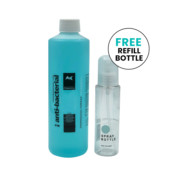 Anti-bacterial Disinfectant Spray 500ml With Free Refill Bottle - Available at Catwalk Hair & Beauty Australia