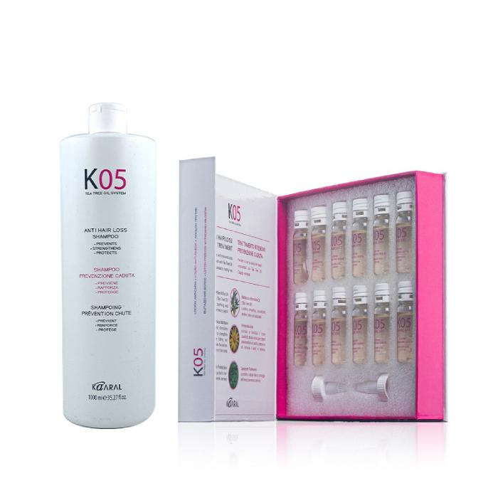 Kaaral K05 Anti Hair Loss Shampoo Treatment Duo 1000ml