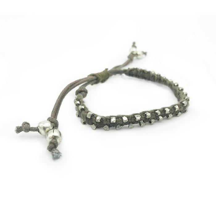 Atida Olive Metal Studded Bracelet