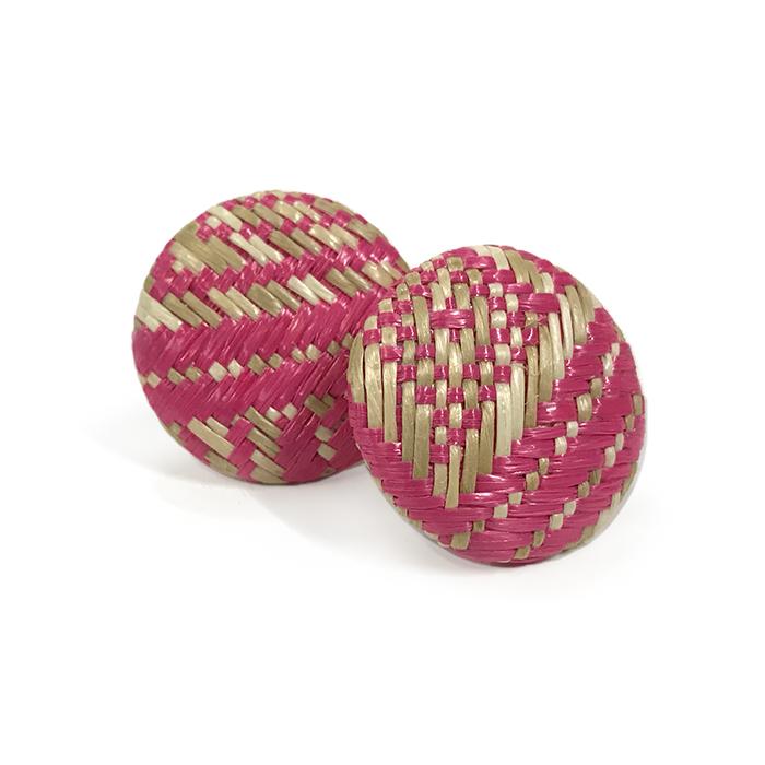 Atida Pink Woven Statement Earrings