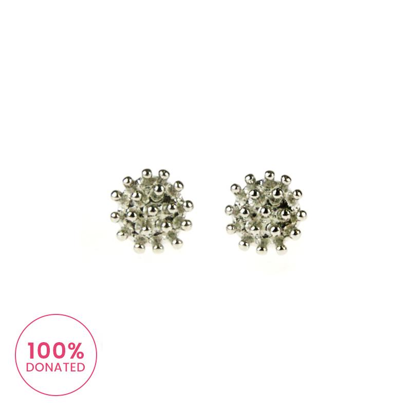 Atida Silver Crowns Earrings