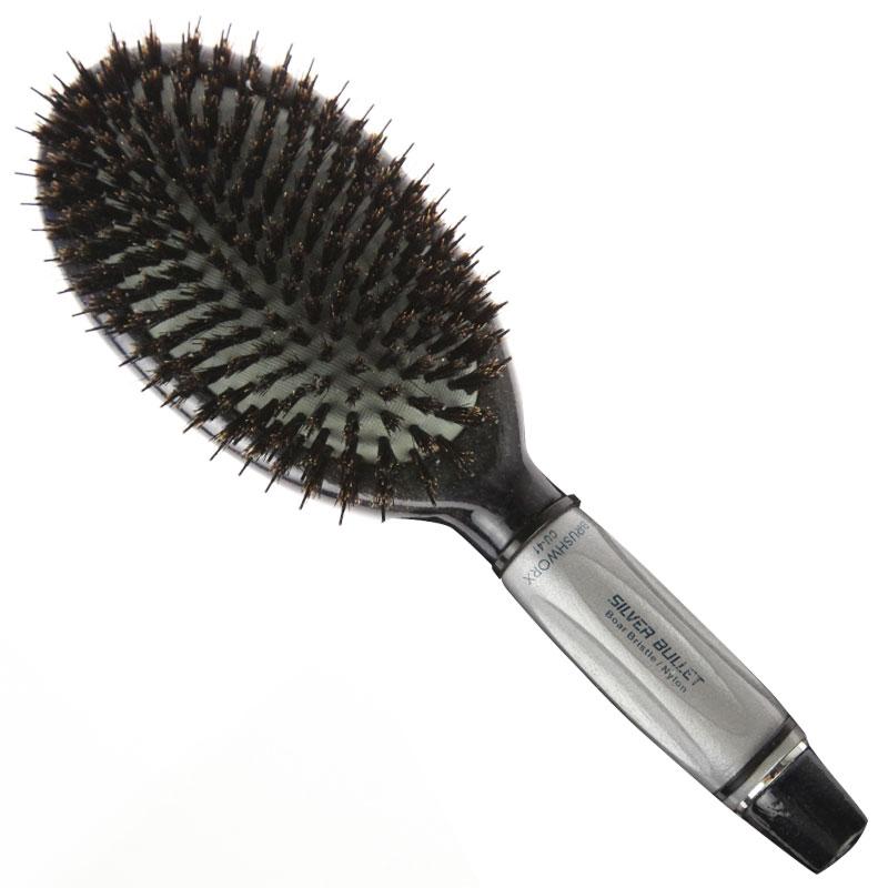 Silver Bullet Brushworx Porcupine Oval Ceramic Ionic Cushion Brush