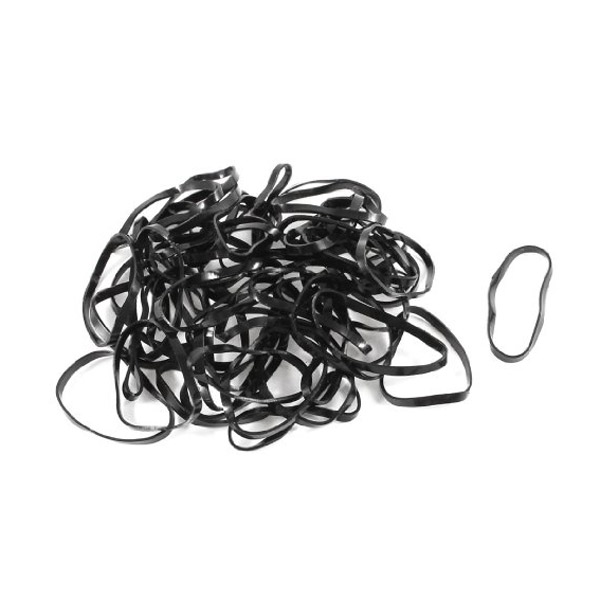 Catwalk Hair Accessories Braiding Bands Black 30 Pack