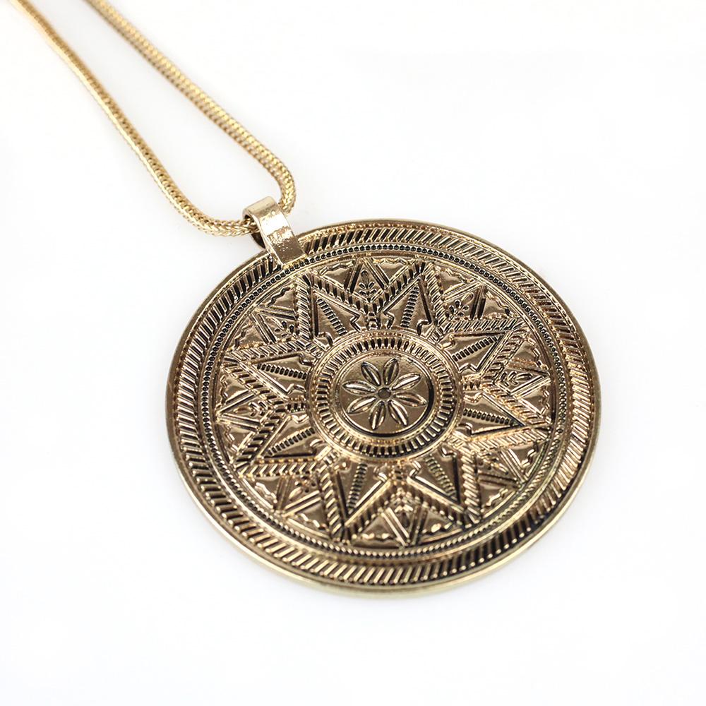 Atida Aztec Fools Pendant in gold