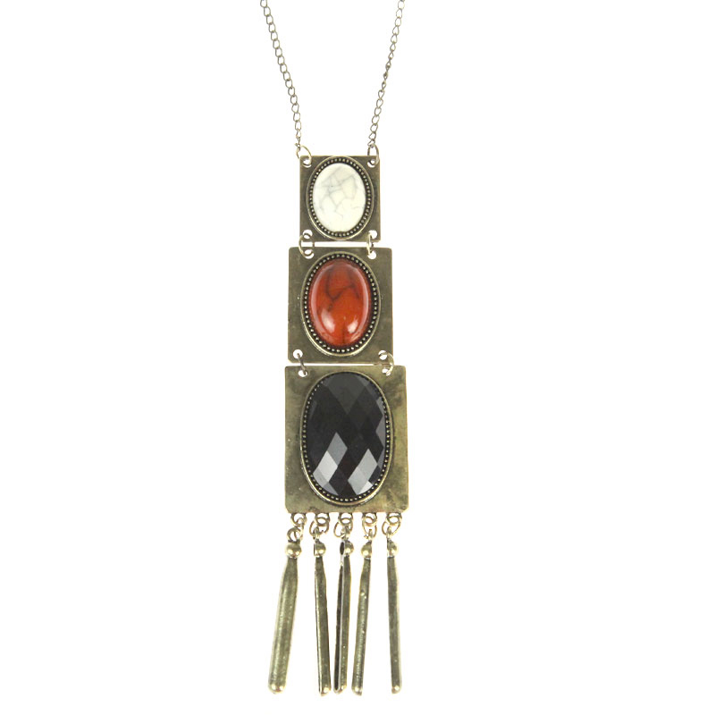 Atida Bronzed Flapper Necklace