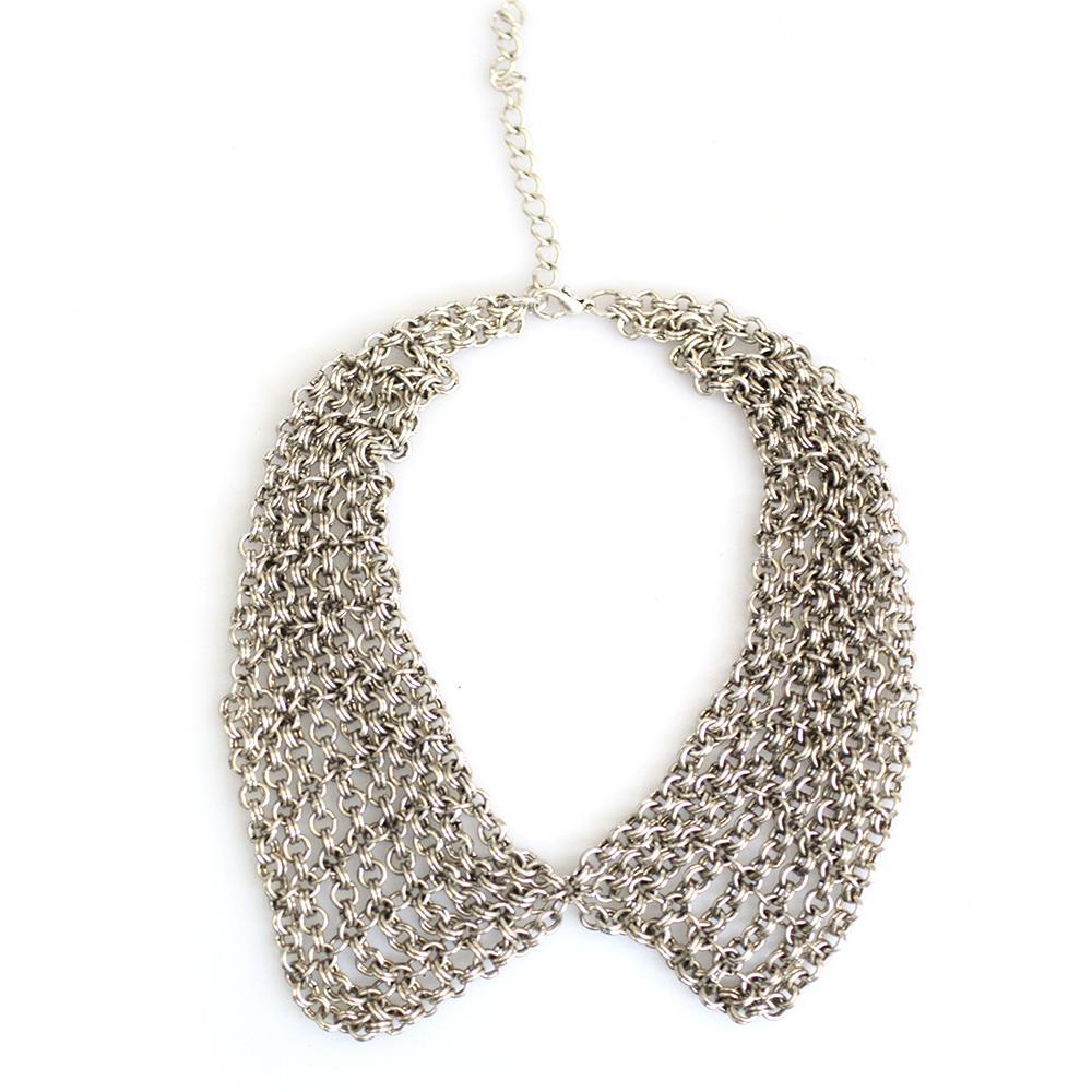 Atida Multi Chain Peter Pan Collar Necklace