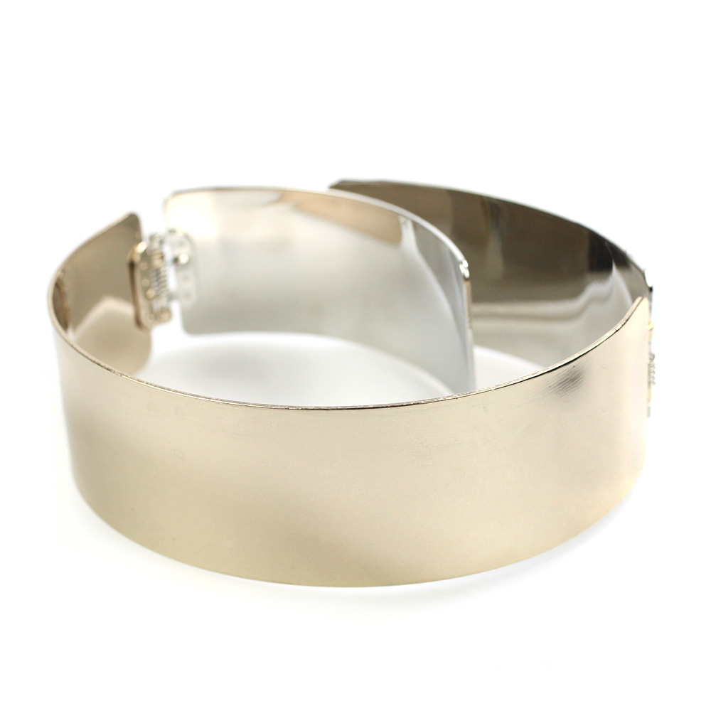 Atida Gold and Silver Multi Tonal Choker