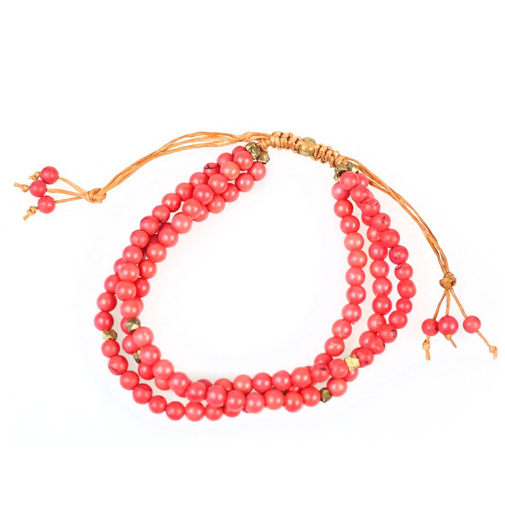 Atida Honeysuckle Coral Bracelet