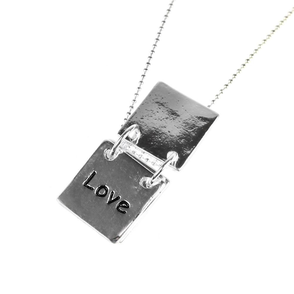 Atida Hope Love Wish Plated Necklace