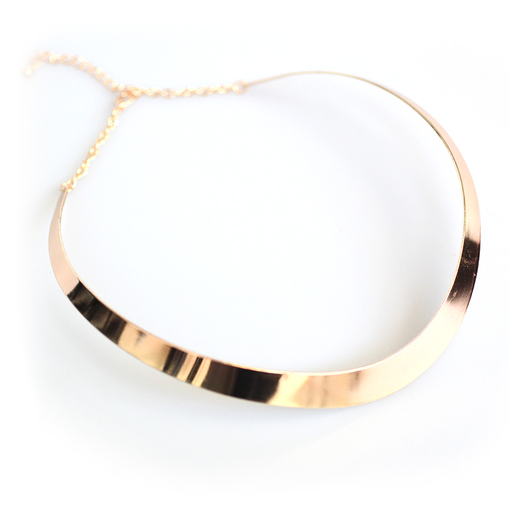 Atida Rose Gold Curved Choker