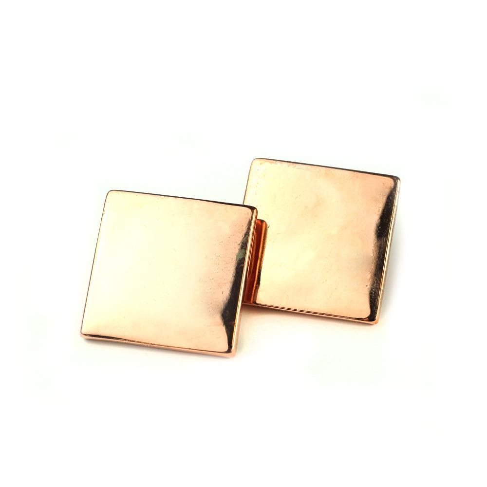 Atida Rose Gold Tile Earrings