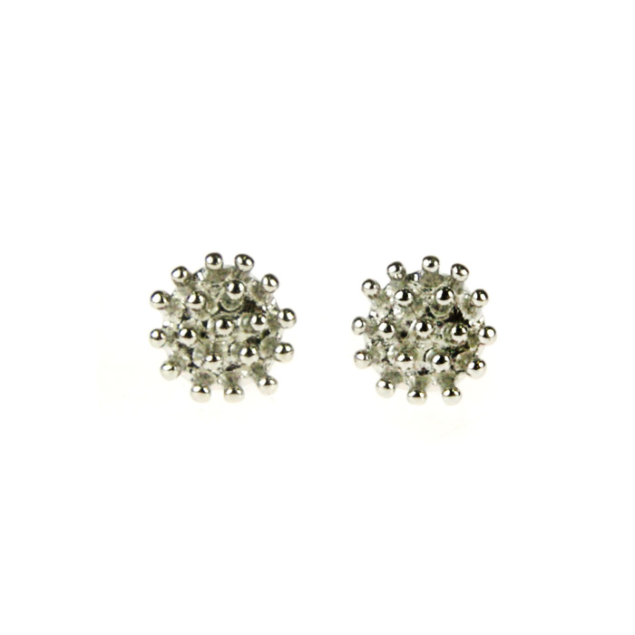 Atida Silver Crowns Earrings