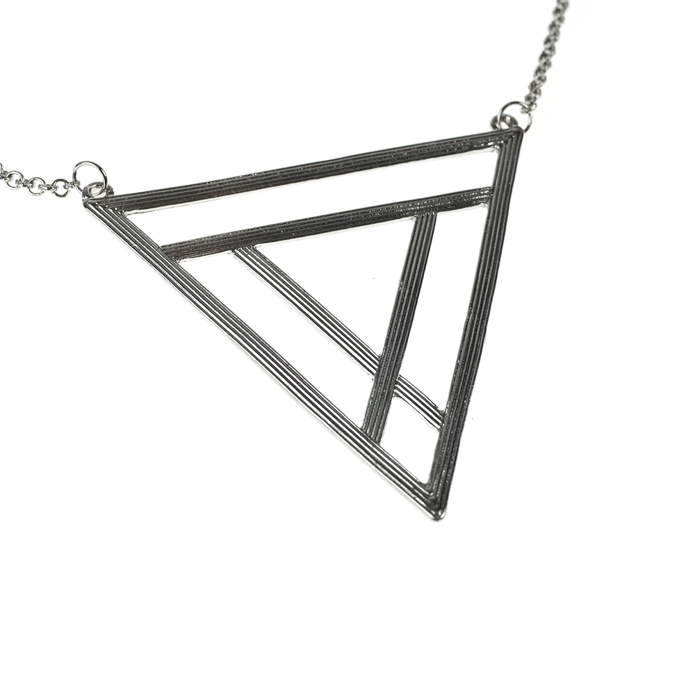 Atida Love Triangle Necklace in Silver