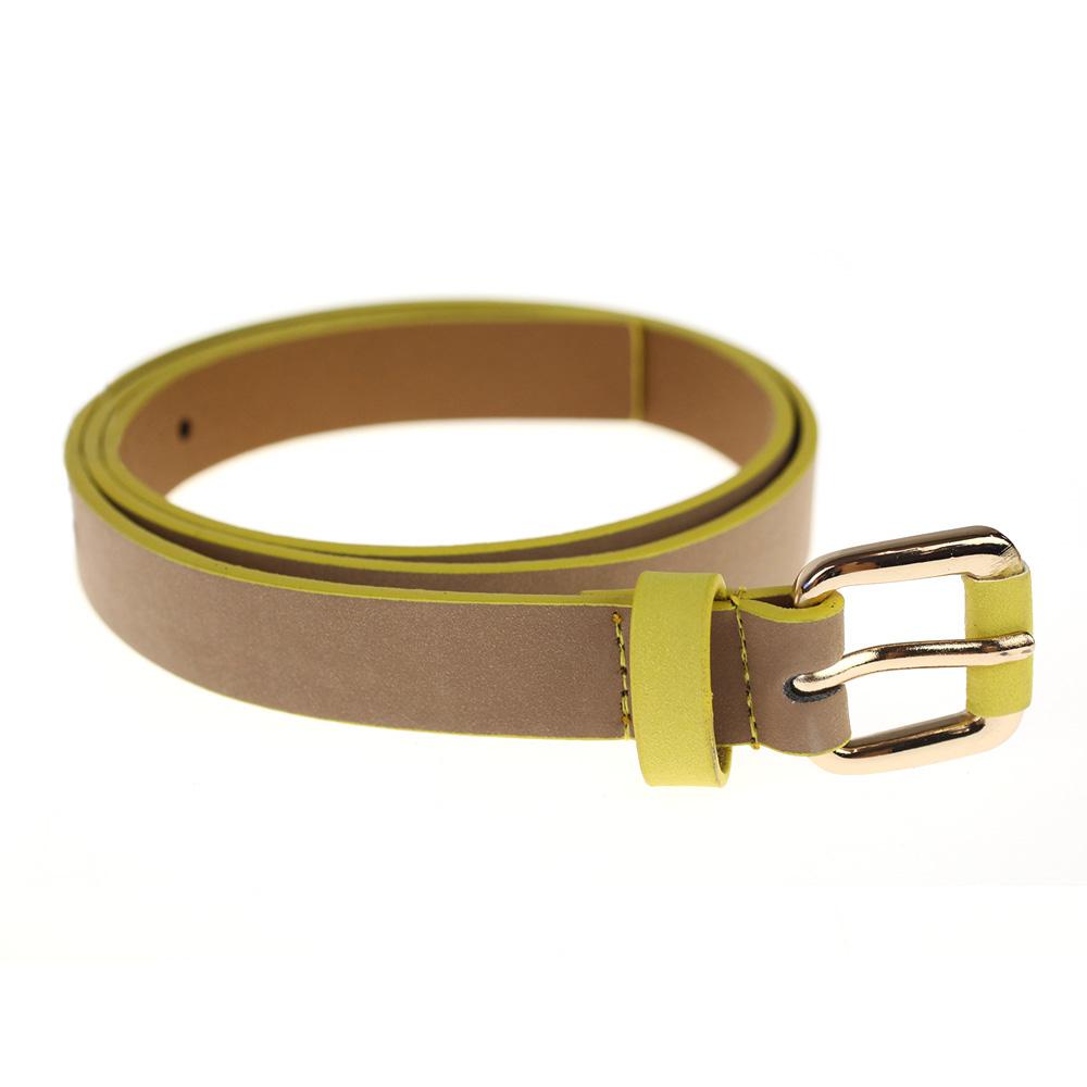 Atida Electric Yellow Trim Belt L