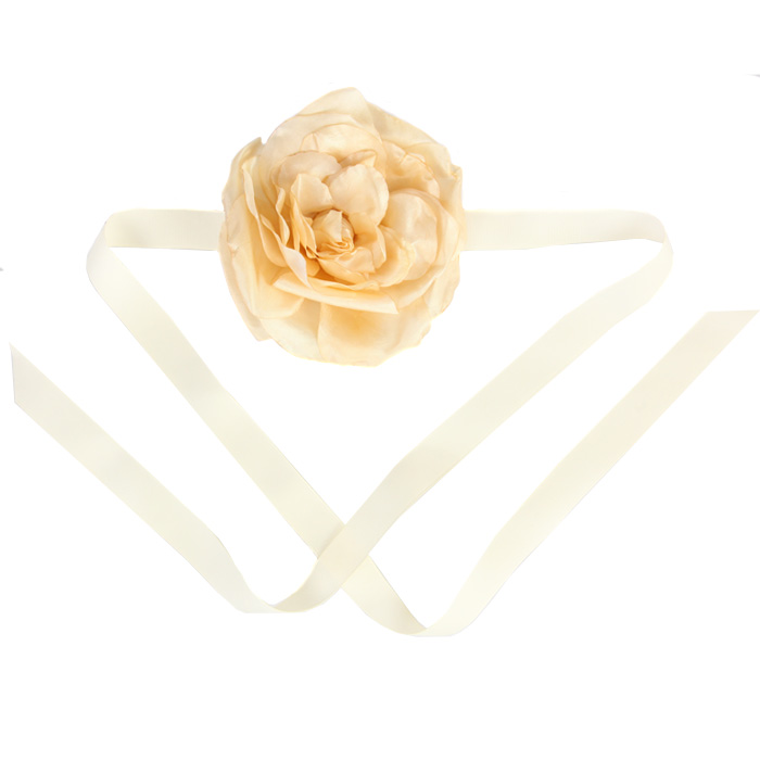 Catwalk Hair Accessories Floral Headpiece in Creamy Peach