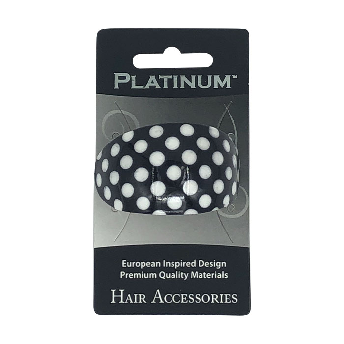 Cricket Platinum French Clip Oval - Polka Dot
