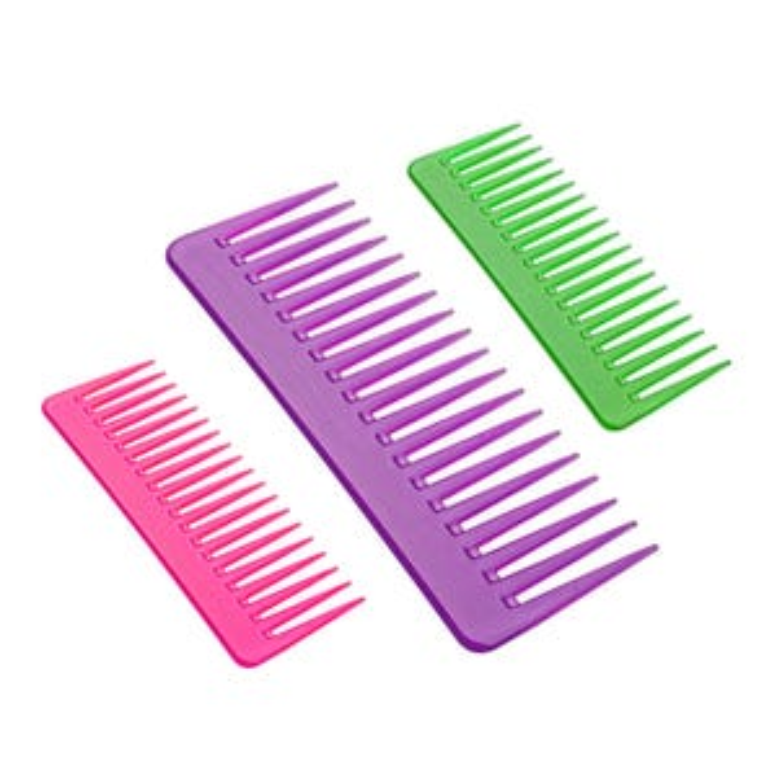 1 x Fusion Detangling Fluro Comb - Random Colour