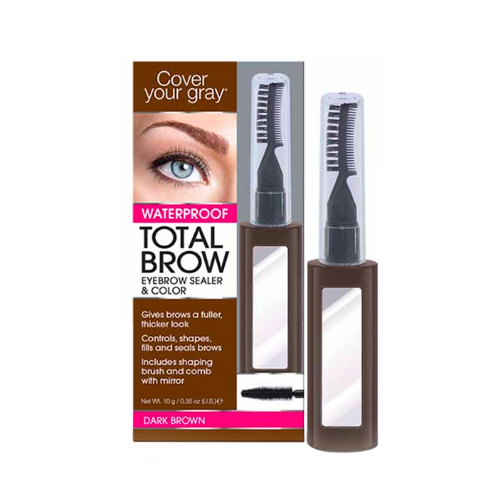 Cover Your Gray Total Brow Eyebrow Sealer & Color Dark Brown - Available at Catwalk Hair & Beauty Australia