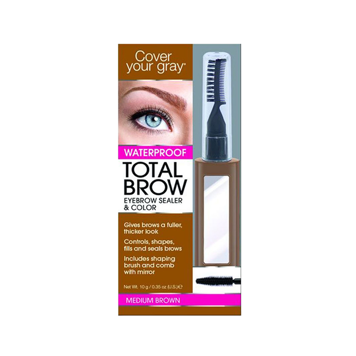 Cover Your Gray Total Brow Eyebrow Sealer & Color Medium Brown - Available at Catwalk Hair & Beauty Australia