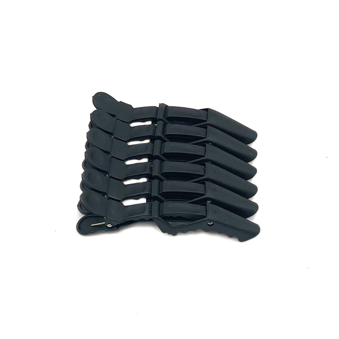 Black Crocodile Clips 6pk