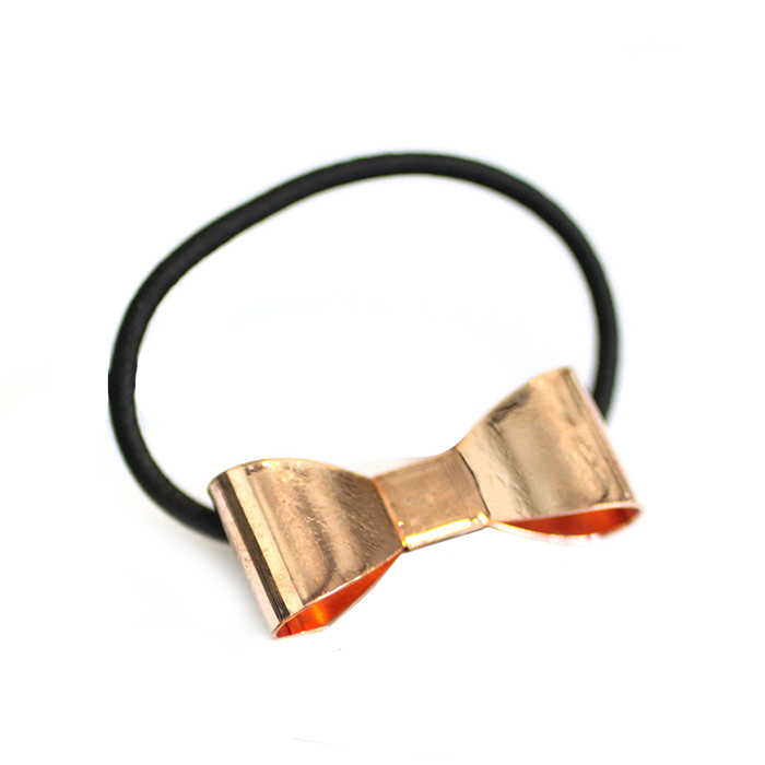 Catwalk Hair Accessories Rose Gold Bow Hair Tie