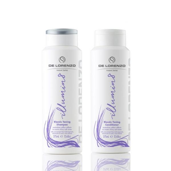 De Lorenzo Instant Illumin8 Shampoo & Conditioner 375ml Duo