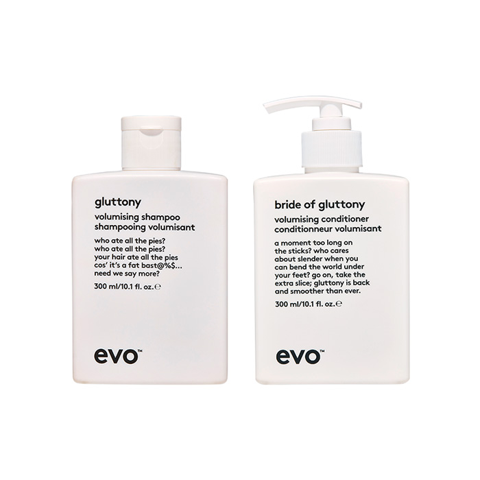 Evo Gluttony Shampoo & Conditioner 300ml Duo