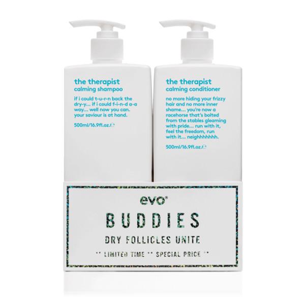 Evo The Therapist Shampoo and Conditioner Duo 500ml
