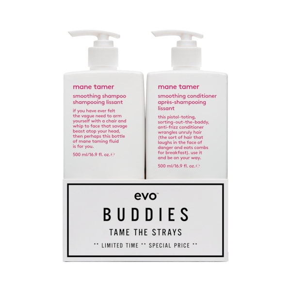 Evo Mane Tamer Smoothing Shampoo and Conditioner Duo 500ml