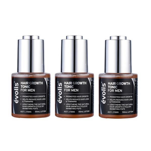 Evolis Hair Grow Tonic For Men Trio Pack