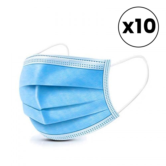 Disposable Surgical Face Masks 10 Pack - Available at Catwalk Hair & Beauty Australia