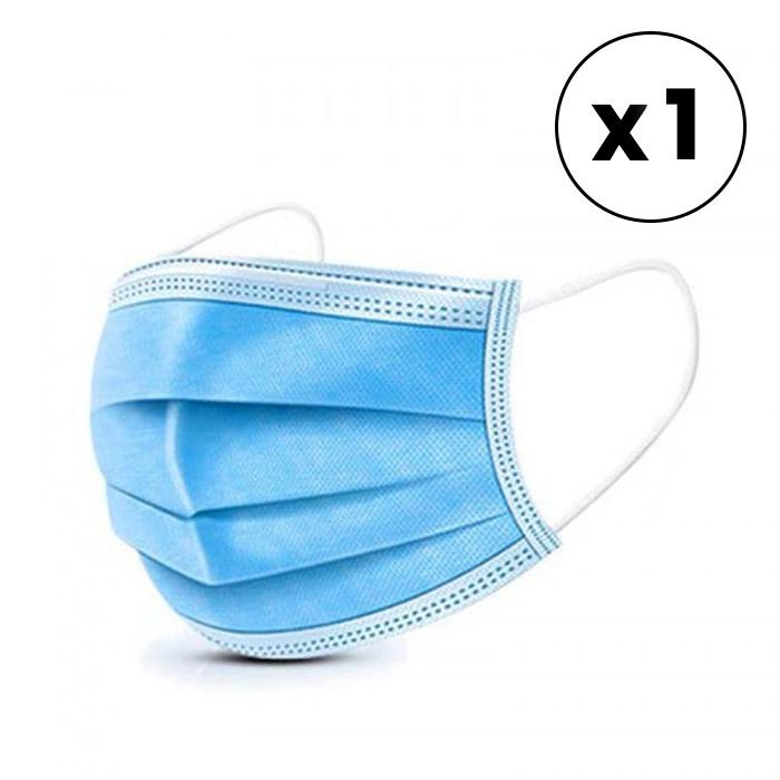 Single-use 3-Layer Medical Face Mask (Level 2) - 1pk