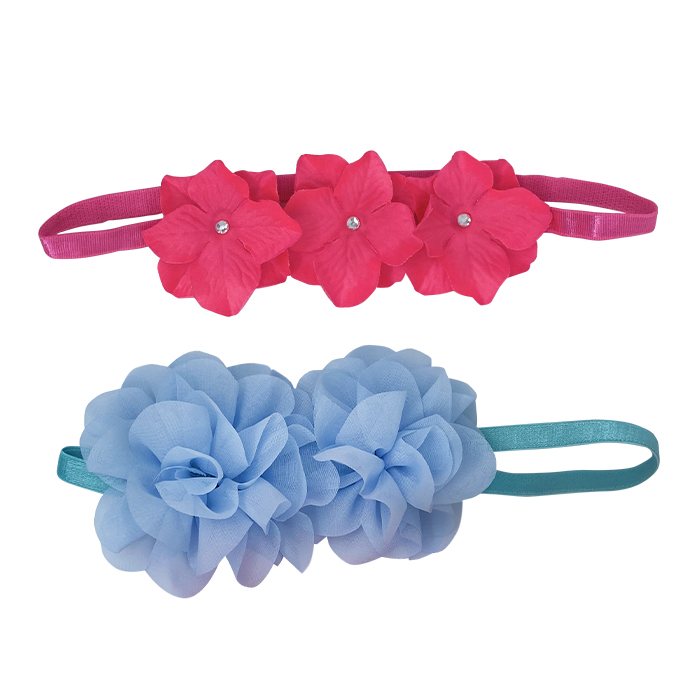 Flower Headband Assorted Duo