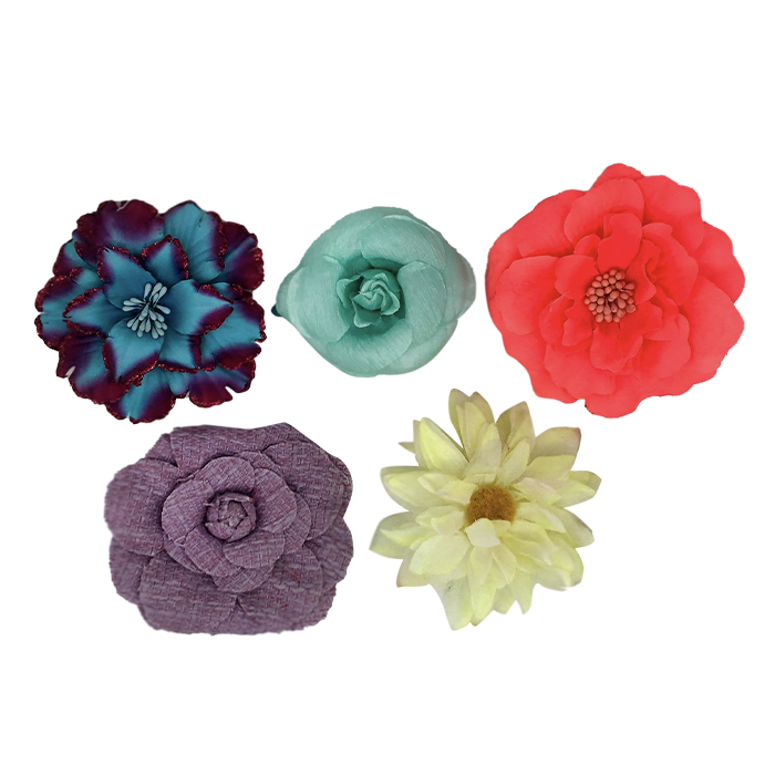Catwalk Hair Accessories Flower Clip Assorted 5pk