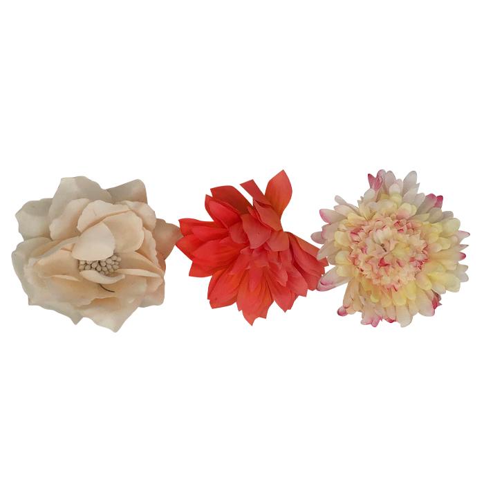 Catwalk Hair Accessories Flower Clip Assorted 3pk