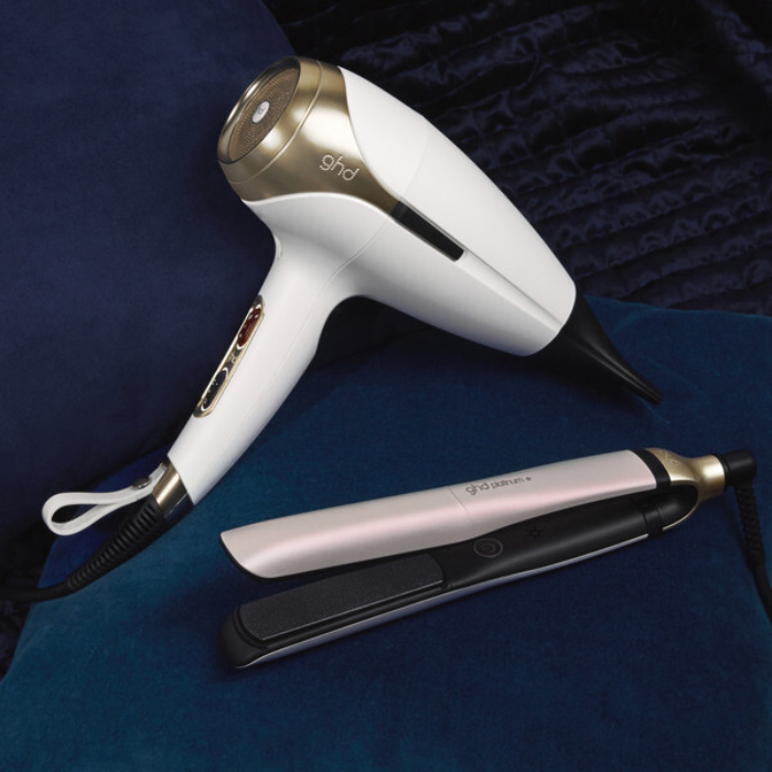 ghd Deluxe Iridescent White Gift Set