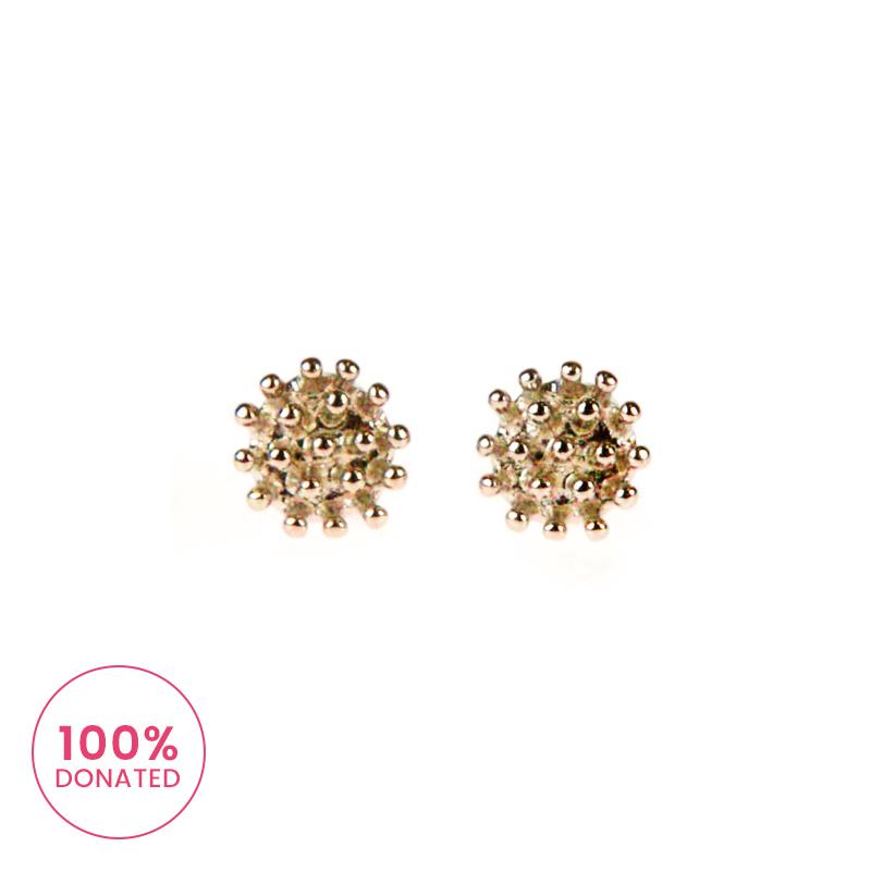 Atida Golden Crowns Earrings