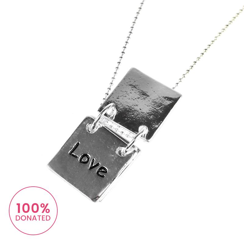 Atida Hope Love Wish Plated Necklace