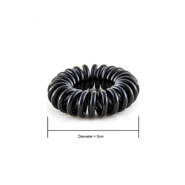 Hair Hoops Black 3cm