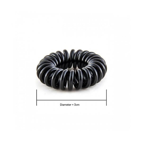 Hair Hoops Black 3cm