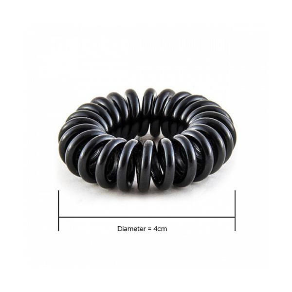 Hair Hoops Black 4cm