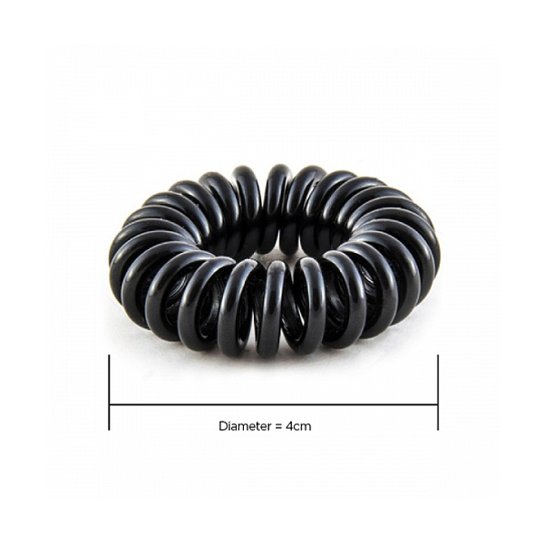 Hair Hoops Black 4cm